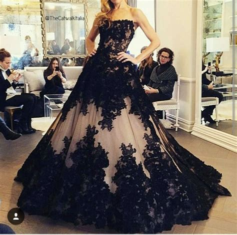 New Fashion Ball Gown Black Wedding Dress 2016 Off the